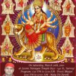Invitation for Mataji Di Chowki on March 20, 2010