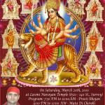 Invitation for Mataji Di Chowki on March 20, 2010