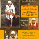 Invitation - Sai Bhajan Sandhya in Surrey, Canada on February 27, 2010